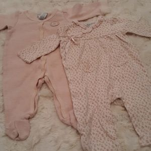 Bundle of Ralph Lauren one piece Pajamas 9m pink